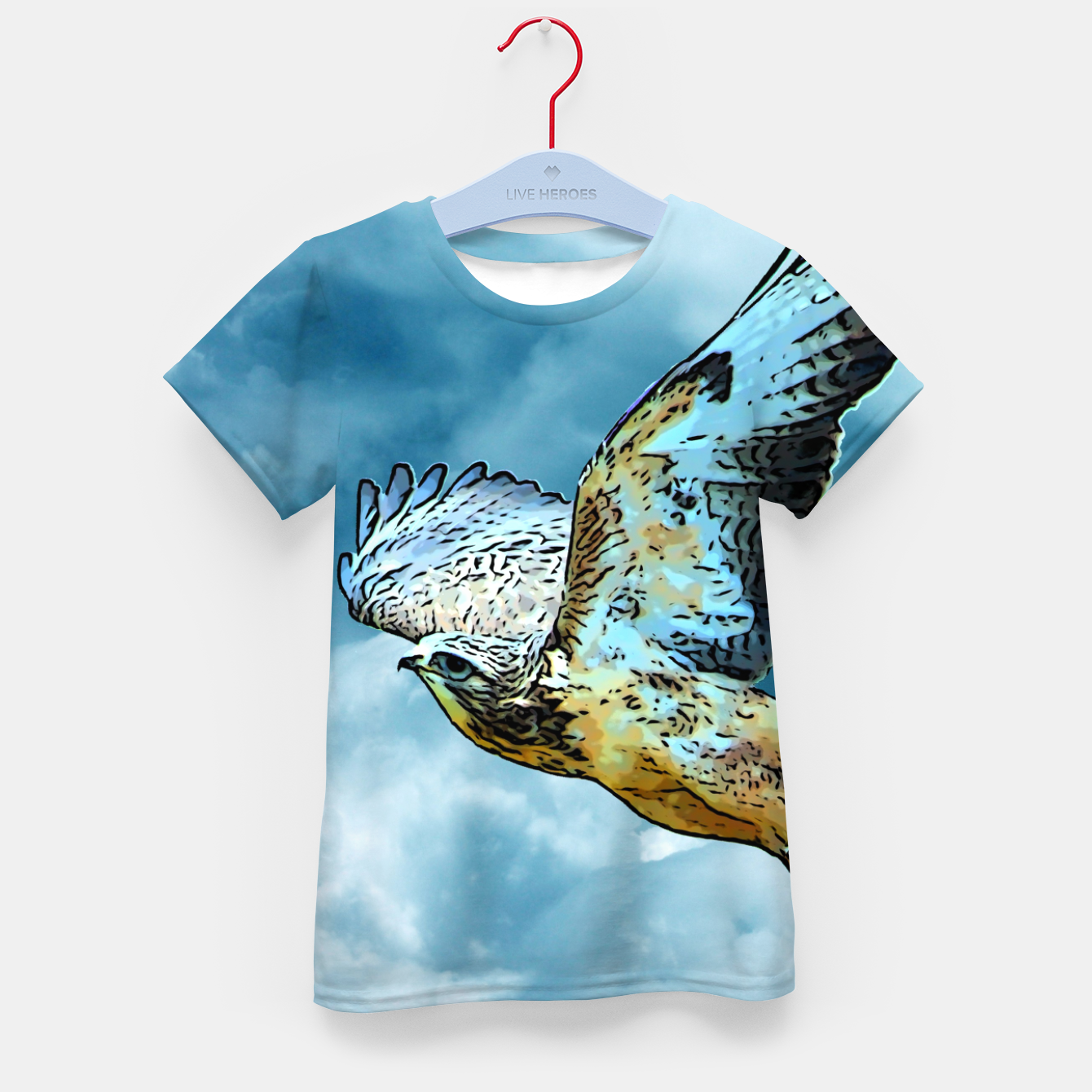 Image of Falcon in the sky T-Shirt für kinder - Live Heroes