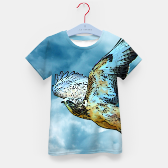 Thumbnail image of Falcon in the sky T-Shirt für kinder, Live Heroes