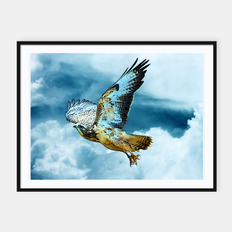 Thumbnail image of Falcon in the sky Plakat mit rahmen, Live Heroes