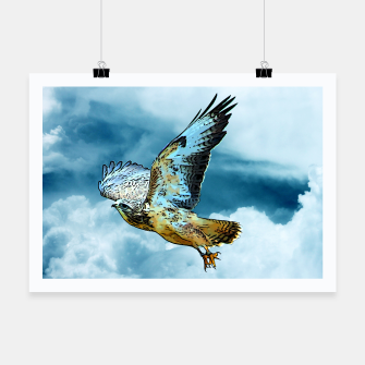 Thumbnail image of Falcon in the sky Plakat, Live Heroes