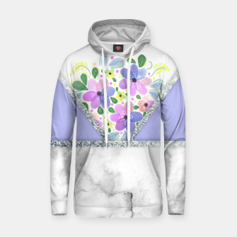 Thumbnail image of Minimal Purple Silver Floral Marble Sudadera con capucha, Live Heroes