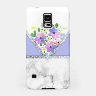 Thumbnail image of Minimal Purple Silver Floral Marble Carcasa por Samsung, Live Heroes