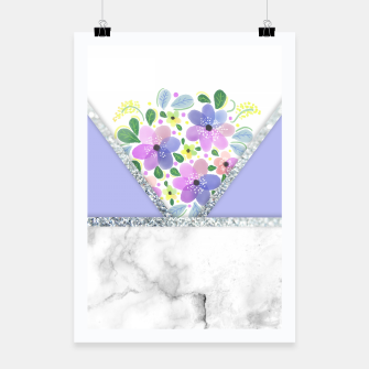 Thumbnail image of Minimal Purple Silver Floral Marble Cartel, Live Heroes
