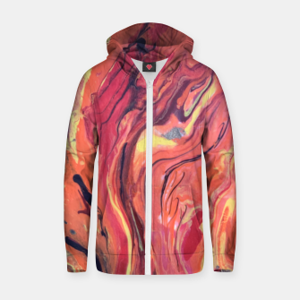 Miniature de image de Fire Zip up hoodie, Live Heroes