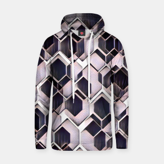 blue grey purple black and white abstract geometric pattern Hoodie Bild der Miniatur