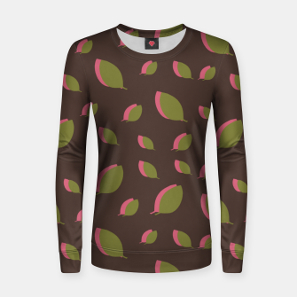 Thumbnail image of Autumn leaves green brown Women sweater, Live Heroes