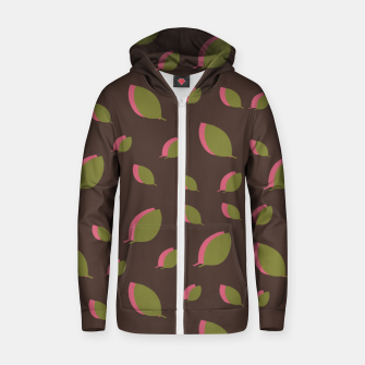 Thumbnail image of Autumn leaves green brown Zip up hoodie, Live Heroes