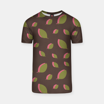 Thumbnail image of Autumn leaves green brown T-shirt, Live Heroes