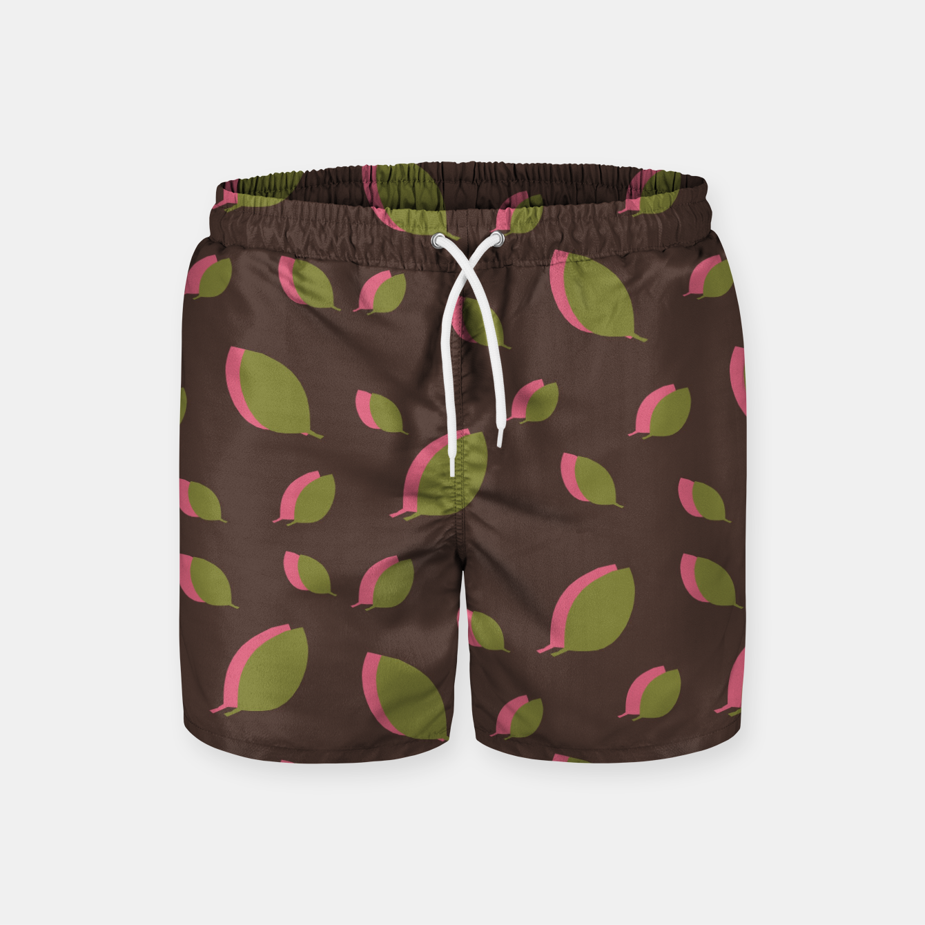 Image de Autumn leaves green brown Swim Shorts - Live Heroes