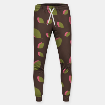 Thumbnail image of Autumn leaves green brown Sweatpants, Live Heroes