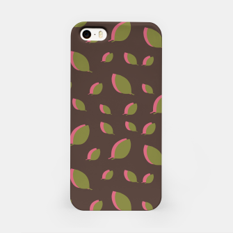 Thumbnail image of Autumn leaves green brown iPhone Case, Live Heroes