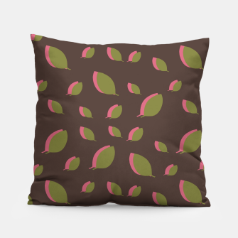Thumbnail image of Autumn leaves green brown Pillow, Live Heroes