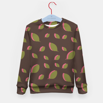 Thumbnail image of Autumn leaves green brown Kid's sweater, Live Heroes