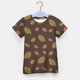 Thumbnail image of Autumn leaves green brown Kid's t-shirt, Live Heroes