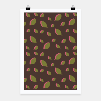 Thumbnail image of Autumn leaves green brown Poster, Live Heroes