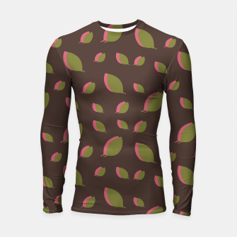 Thumbnail image of Autumn leaves green brown Longsleeve rashguard , Live Heroes