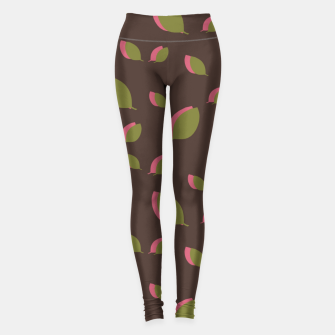 Thumbnail image of Autumn leaves green brown Leggings, Live Heroes