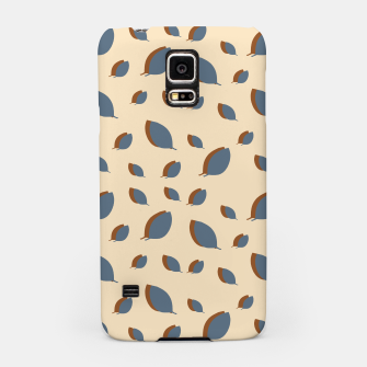 Thumbnail image of Blue leaves pattern on vanilla Samsung Case, Live Heroes
