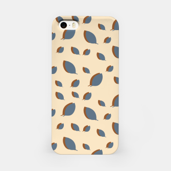 Thumbnail image of Blue leaves pattern on vanilla iPhone Case, Live Heroes