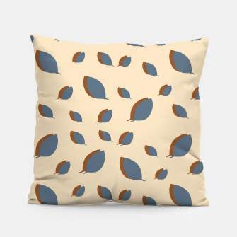 Thumbnail image of Blue leaves pattern on vanilla Pillow, Live Heroes