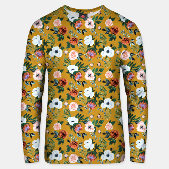 Garden pastel flowers Unisex sweater miniature