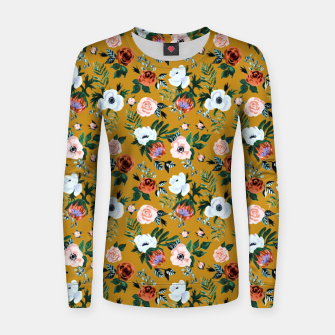 Garden pastel flowers Women sweater thumbnail image