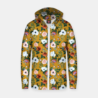 Garden pastel flowers Zip up hoodie thumbnail image