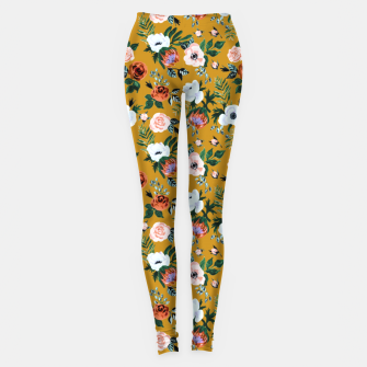 Garden pastel flowers Leggings thumbnail image