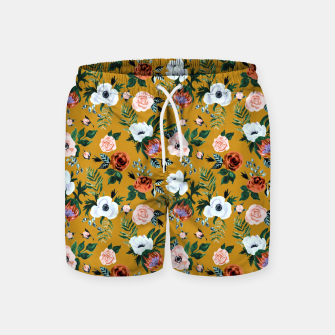 Garden pastel flowers Swim Shorts miniature