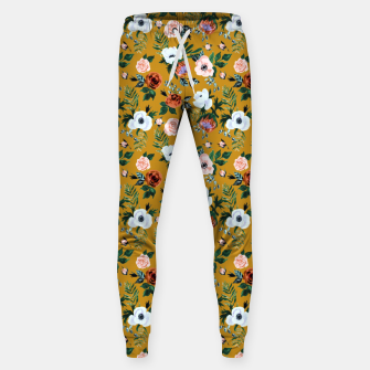 Garden pastel flowers Sweatpants miniature