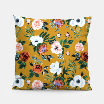 Garden pastel flowers Pillow thumbnail image