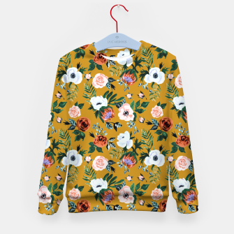 Garden pastel flowers Kid's sweater thumbnail image
