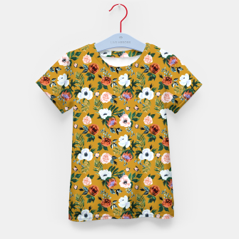 Garden pastel flowers Kid's t-shirt miniature
