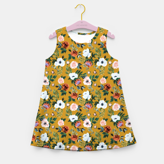 Garden pastel flowers Girl's summer dress obraz miniatury