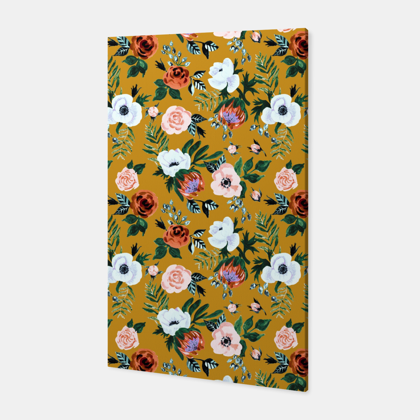 Image of Garden pastel flowers Canvas - Live Heroes