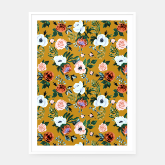 Thumbnail image of Garden pastel flowers Framed poster, Live Heroes