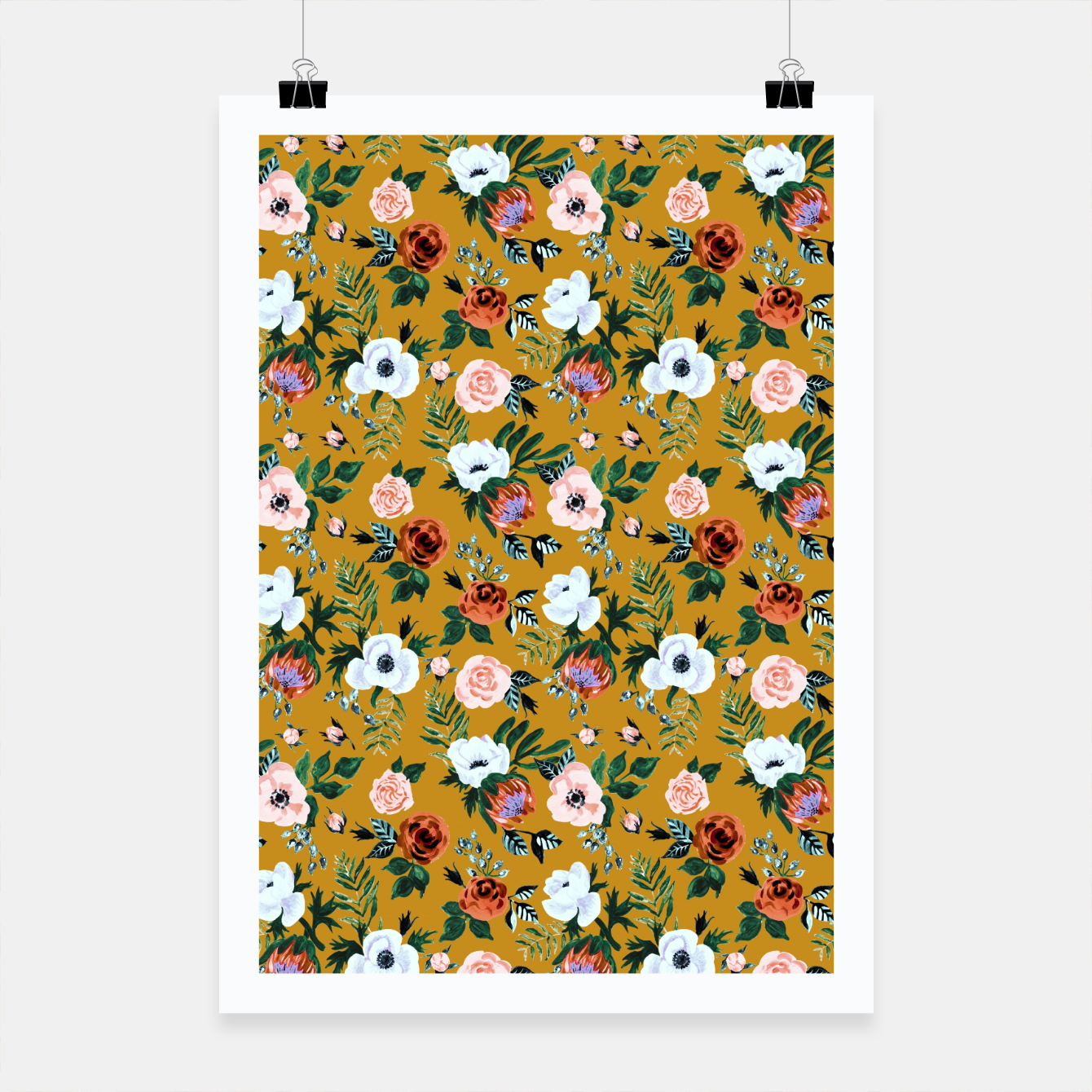 Image of Garden pastel flowers Poster - Live Heroes