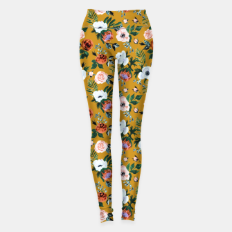Thumbnail image of Garden pastel flowers Leggings, Live Heroes