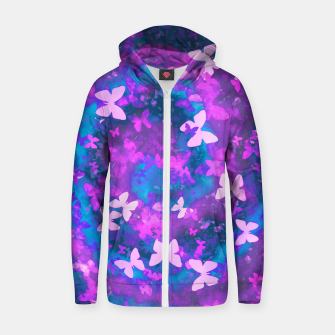 Thumbnail image of butterfly dreaming zip up hoody, Live Heroes