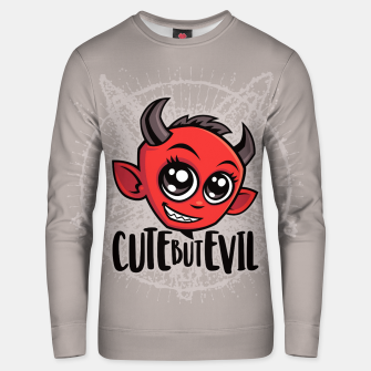 Miniatur Cute But Evil Unisex sweater, Live Heroes