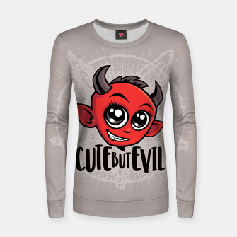 Cute But Evil Women sweater Bild der Miniatur