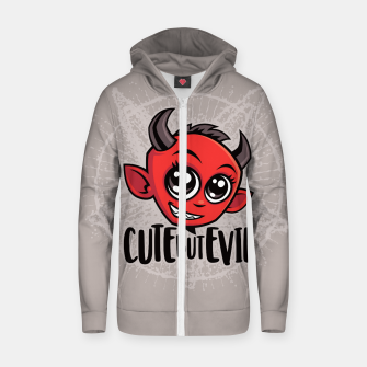 Thumbnail image of Cute But Evil Zip up hoodie, Live Heroes