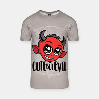 Cute But Evil T-shirt Bild der Miniatur