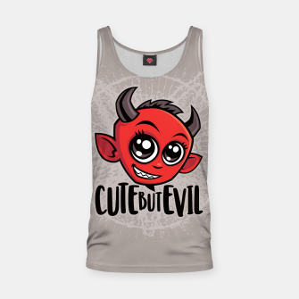 Miniatur Cute But Evil Tank Top, Live Heroes