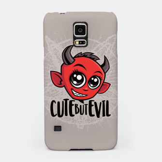 Miniatur Cute But Evil Samsung Case, Live Heroes