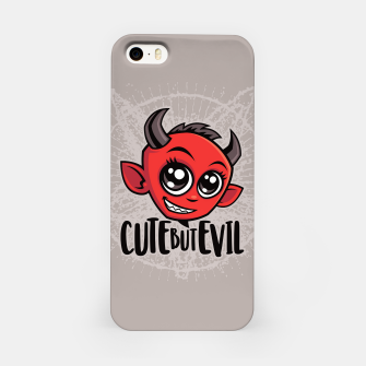 Miniatur Cute But Evil iPhone Case, Live Heroes
