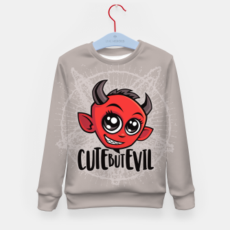 Miniatur Cute But Evil Kid's sweater, Live Heroes