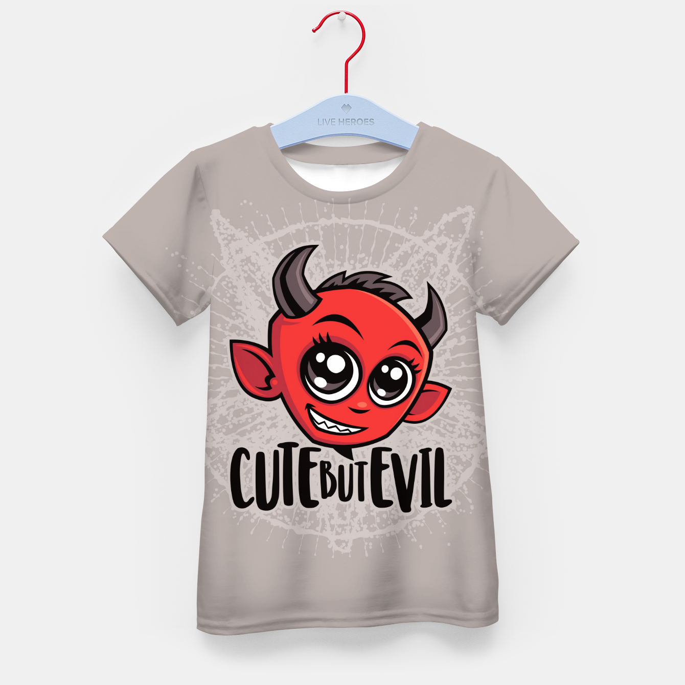 Foto Cute But Evil Kid's t-shirt - Live Heroes