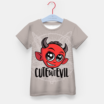 Cute But Evil Kid's t-shirt Bild der Miniatur