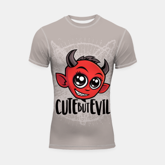 Thumbnail image of Cute But Evil Shortsleeve rashguard, Live Heroes